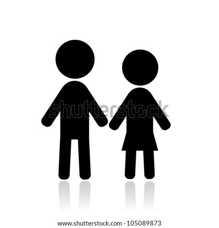 Couple stick figure stick figure couple