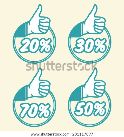 Coupon sale collection - stock vector