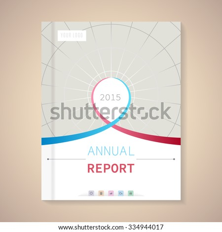 Cover Annual Report numbers 2015,  vector illustration - stock vector