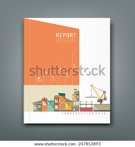 Cover Annual Reports building construction design, vector illustration - stock vector
