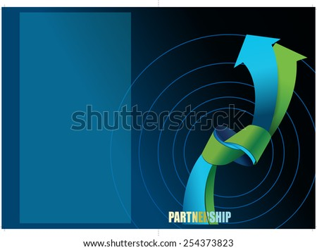 Cover design concept for corporate brochure - stock vector