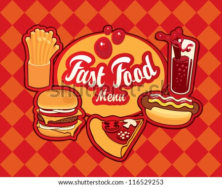 Cover for fast food menu - stock vector
