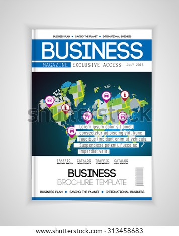 Cover of business magazine, vector - stock vector