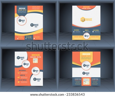 Cover Vector Design Template Set Flyer, Business Brochure, Catalog  - stock vector