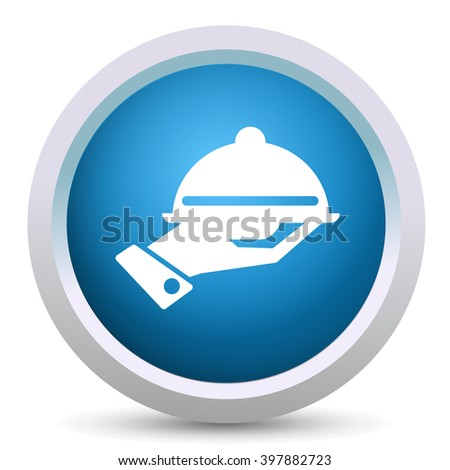 covered plate - stock vector