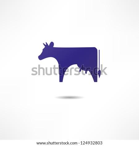 Cow - stock vector