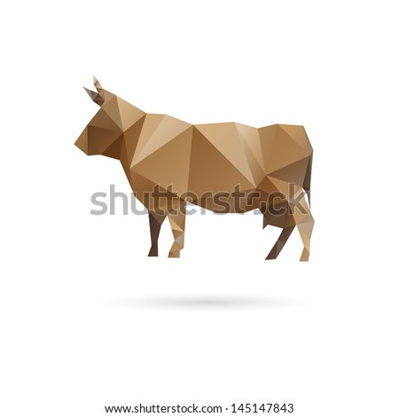 Cow abstract isolated on a white backgrounds - stock vector