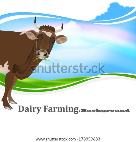 Cow.Milk.Dairy Product - stock vector