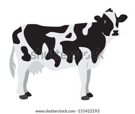 Cow on a white background - stock vector