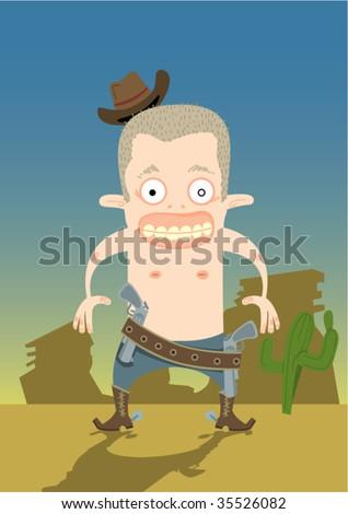 cowboy - stock vector