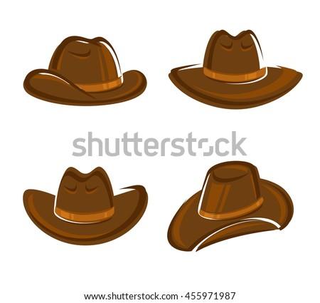 Cowboy hat set. Vector - stock vector