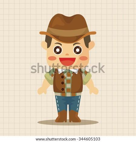 cowboy theme elements - stock vector