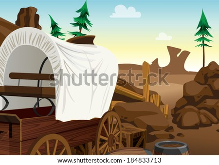Cowboy vector background - stock vector