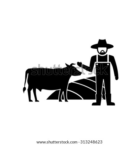 Cows farm vector - stock vector