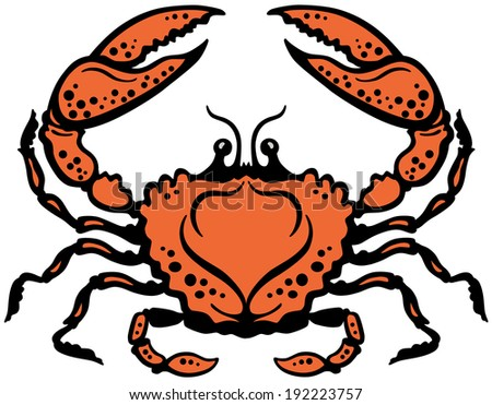 crab or cancer astrological zodiac sign, image isolated on white - stock vector