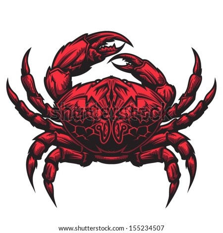 Crab representing Cancer zodiac sign or just a sharp vector graphic for general use. Layered and easy to edit. - stock vector