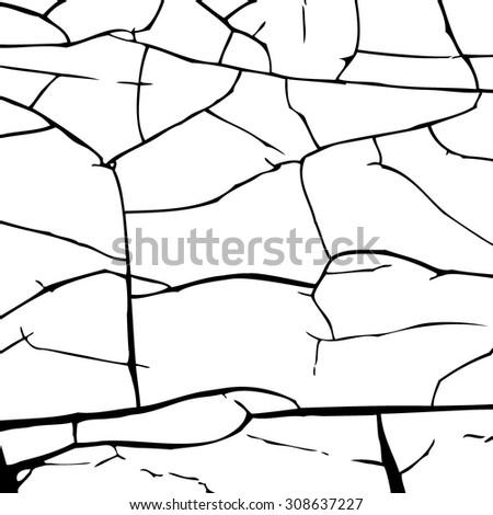 Crack silhouette - stock vector