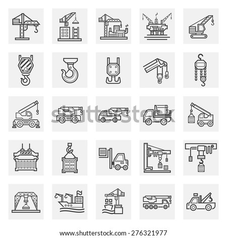 Crane icons sets. - stock vector