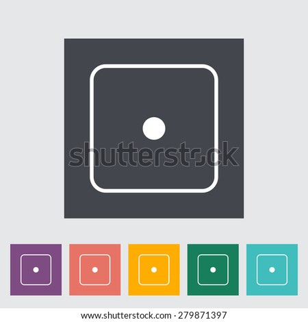 Craps. Single flat icon on the button. Vector illustration. - stock vector