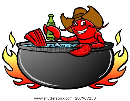 Crawfish Boil - stock vector