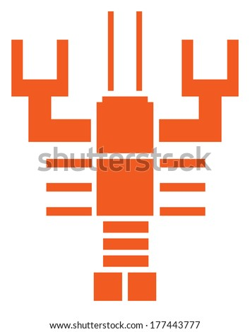Crayfish  - freshwater lobster - stock vector