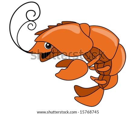Crayfish - Vector - stock vector
