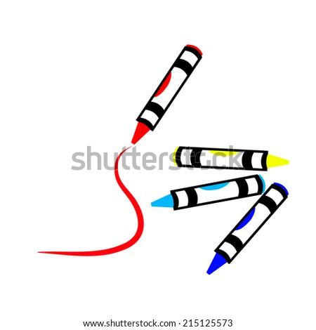 crayon - stock vector
