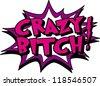 crazy - stock vector
