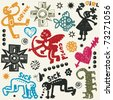 crazy doodle set, hand drawn design elements - stock vector