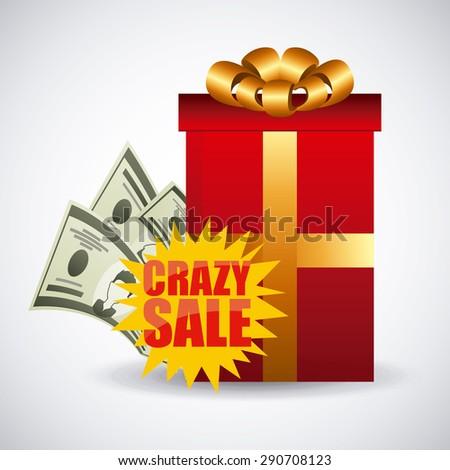 crazy sale design, vector illustration eps10 graphic  - stock vector