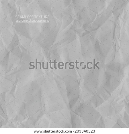Creased grey paper vector seamless texture. Vector seamless pattern. Vector seamless background. Abstract vector background. Seamless vintage background. Seamless retro background. Old paper texture - stock vector