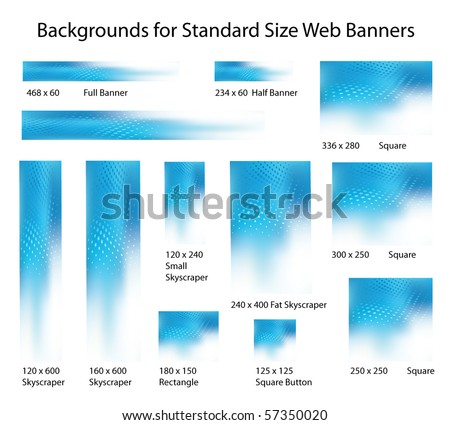 Creative, Abstract Background Set for Standard Size Web Banner Ads - stock vector