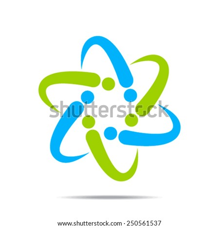creative abstract business discussion group or meeting stock vector - stock vector