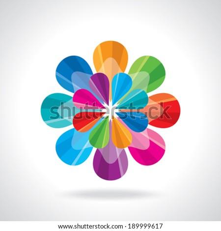 creative abstract circle design - stock vector