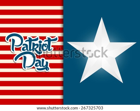 Creative abstract for Patriot Day with nice and creative American theme with Star. - stock vector