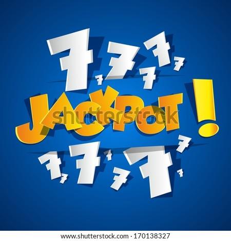 Creative Abstract Jackpot symbol vector illustration - stock vector