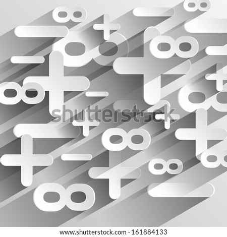 Creative Abstract Math Calcul Symbols On Gradient Background vector illustration - stock vector