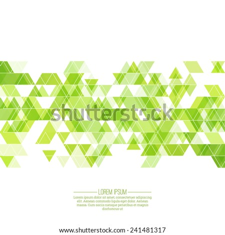 Creative abstract triangle pattern. Polygonal mosaic  background. Green cover colorful, vibrant. For packaging, fabric, websites, printing, booklet, flyer, banner, mobile app, annual report template - stock vector