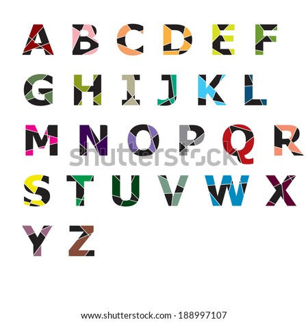 creative alphabet  - stock vector