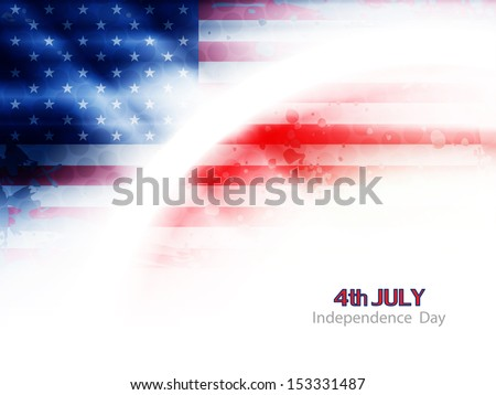 creative american flag theme background design for independence day. vector illustration - stock vector