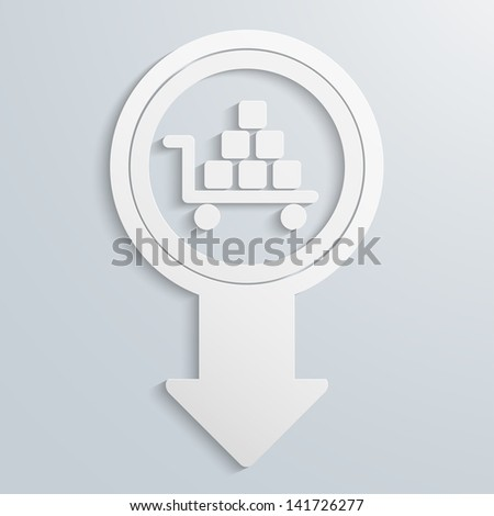creative arrow icon, eps10 vector - stock vector