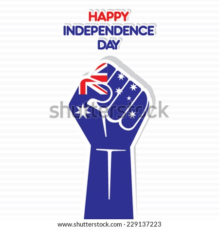 creative Australia flag isolated on hand vector - stock vector