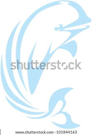 Creative Beluga Whale Illustration - stock vector