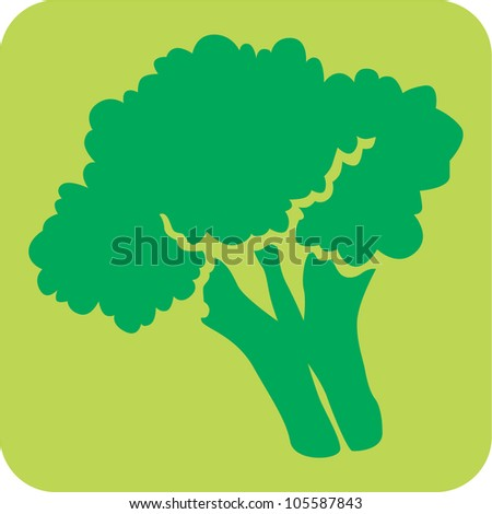 Creative Broccoli Icon - stock vector