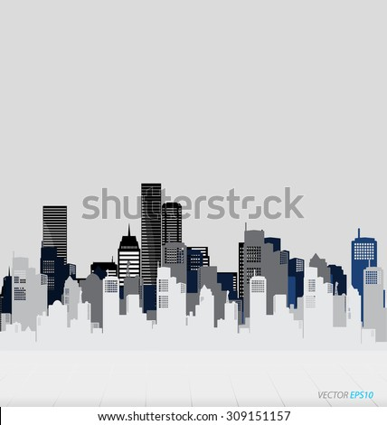 Creative building design template, for your company, vector illustration - stock vector