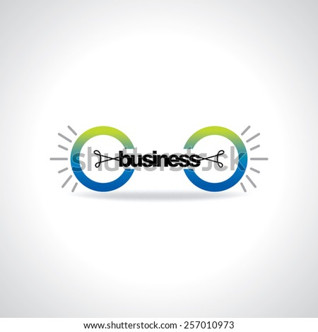 creative bulb connecting business idea concept - stock vector