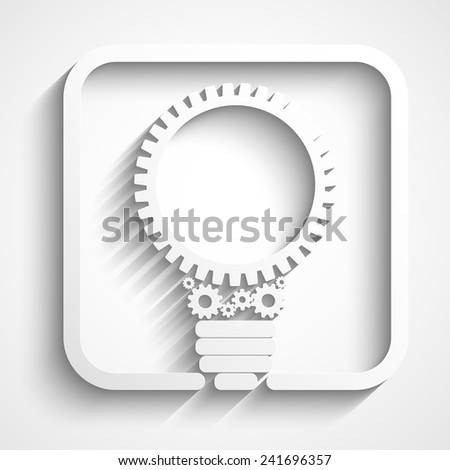 creative bulb with gears logo. Eps10 vector for your design - stock vector