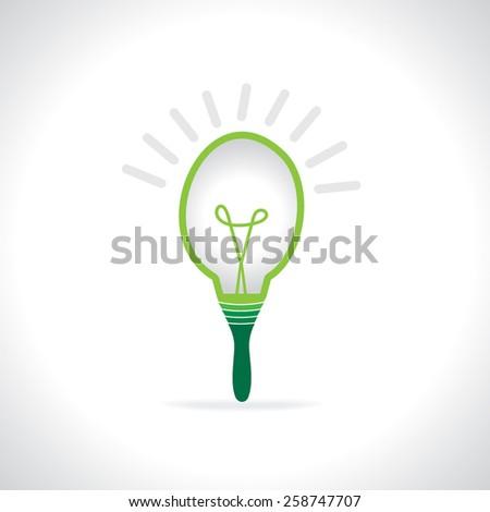 creative bulb with green idea concept  - stock vector