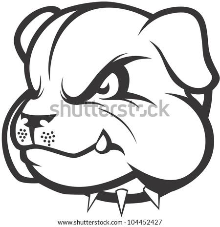 Creative Bulldog Illustration - stock vector