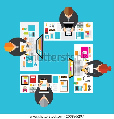 Creative Business and Office Conceptual Vector Design - stock vector